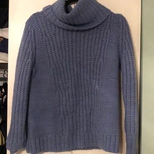 Banana republic chunky blue turtleneck sweater